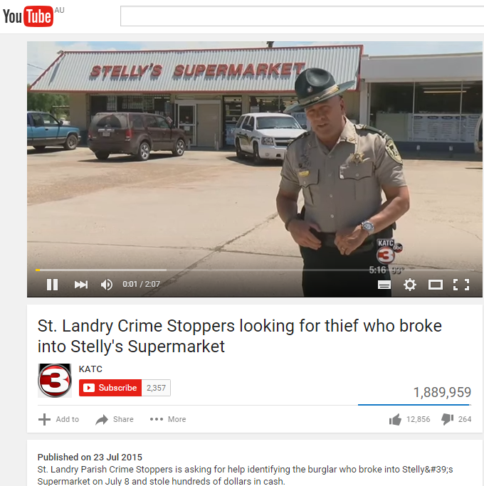 Lieutenant Clay Higgins – St. Landry Parish Crime Stoppers